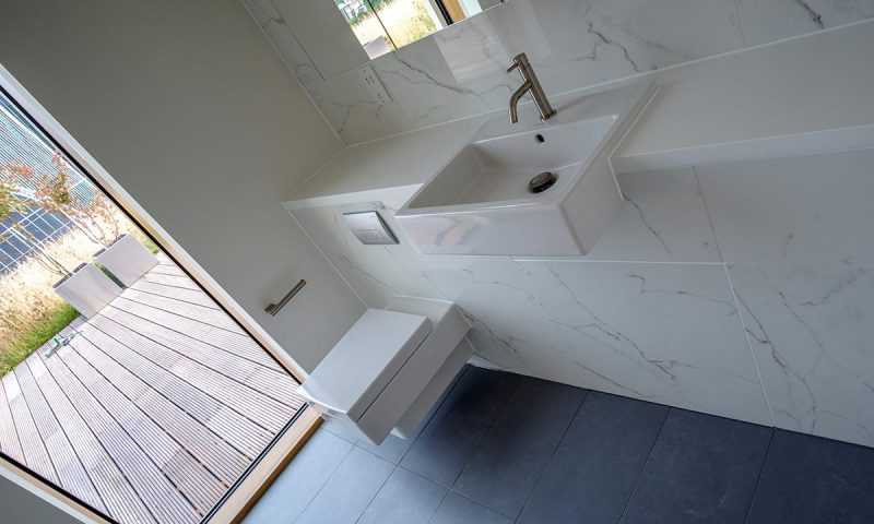 Parnell House - Corian vanity units