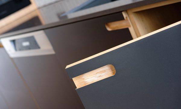 Timber kitchen doors - 42 Berners Street