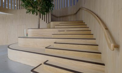 Oak clad staircase