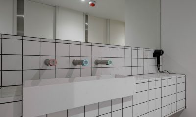 Washrooms with Corian vanity units