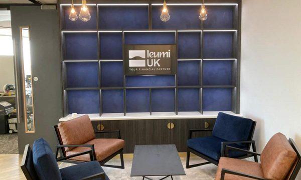 Seating area at Leumi UK